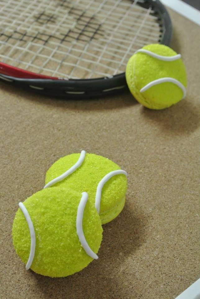 Tennis Ball Macarons Cookies Tennis Ball Tennis Tennis Crafts