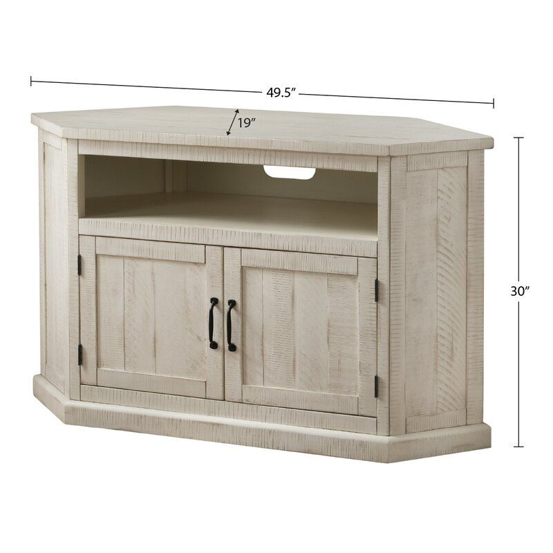 Kinsella Solid Wood Corner Tv Stand For Tvs Up To 55 In 2021 Wood Corner Tv Stand Corner Tv Stand Rustic Corner Tv Stand Solid wood corner tv stand