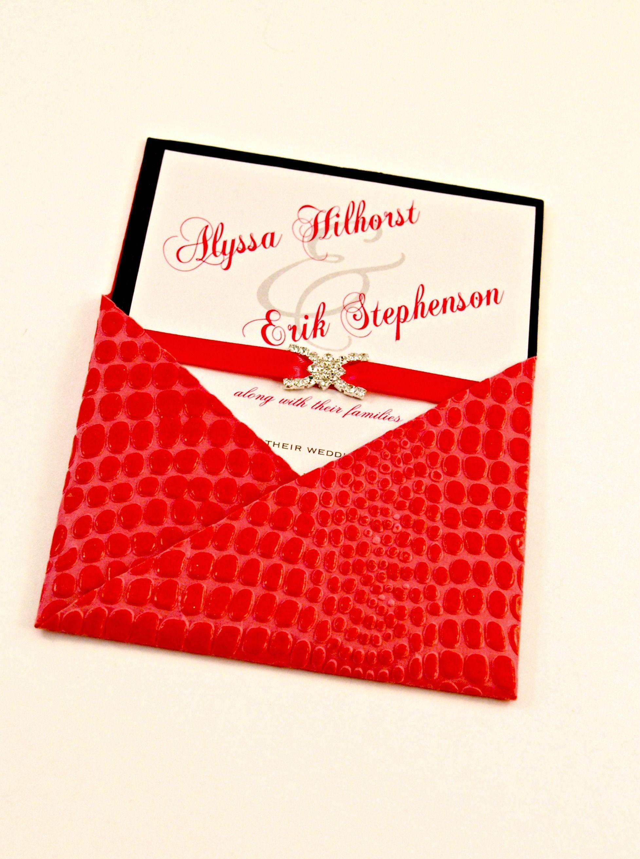 Hot Pink Crocodile pocket for an elegant crystal buckle embellished ...