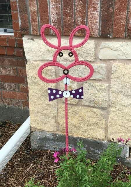 Horseshoe Rabbit Horseshoe Art Horseshoe Crafts