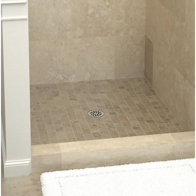 Tile Redi Single Threshold Shower Base With Drain Plate Size 5 75