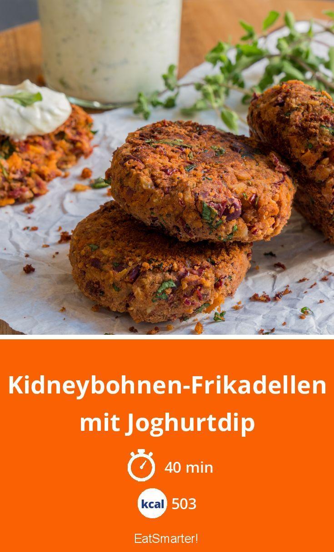 Kidneybohnen-Frikadellen mit Joghurtdip - smarter - Kalorien: 503 kcal - Zeit: 40 Min. | eatsmarter.de #lunch #mealprep #büro