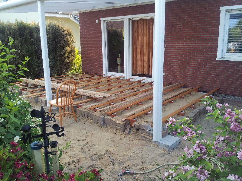 Holzterrassenprojekt Von Familie K Aus Potsdam Unterkonstruktion