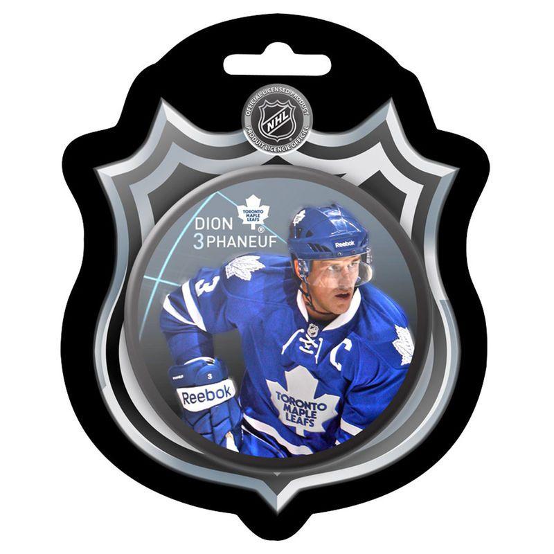Dion Phaneuf Toronto Maple Leafs Player Puck with NHL Carton ... 6a843ffeb