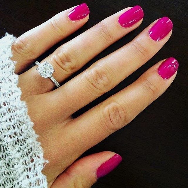 Bright Pink Nail Polish Colors: I Pinned This For The Nail Polish But The Ring Isn't Bad