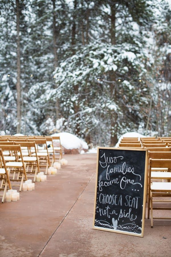 A Snowy Winter Wonderland Wedding Weddings Winterwedding Inspiration