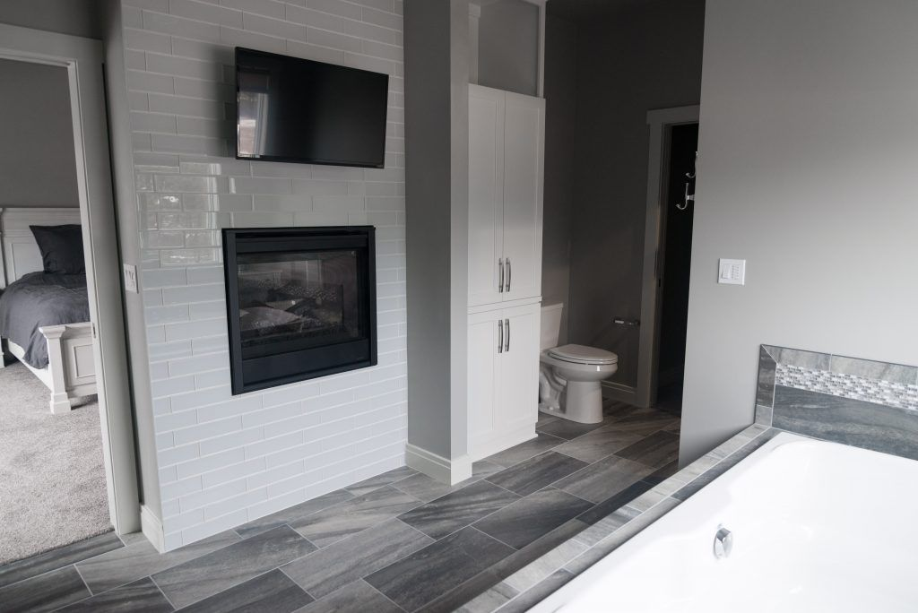 Bathroom Glass Tile Fireplace Angora Bliss Element Ice