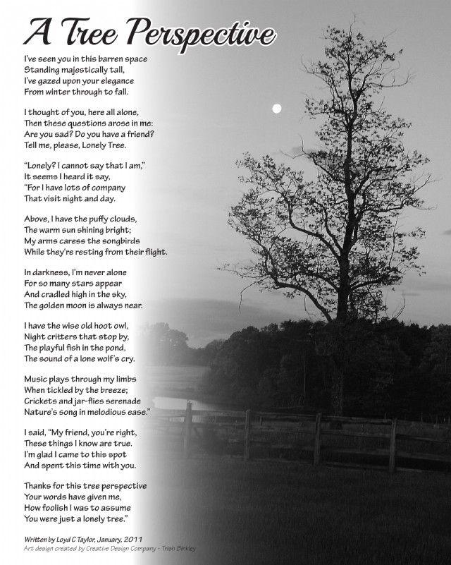 A Tree Perspective Poem By Loyd C Taylor Sr Poem Hunter