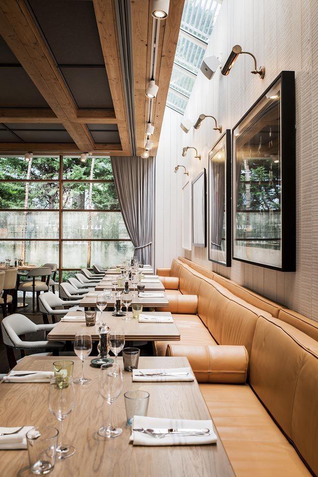 apliques luz techo encima mesas restaurante tarragona Pinterest - Techos Interiores Con Luces