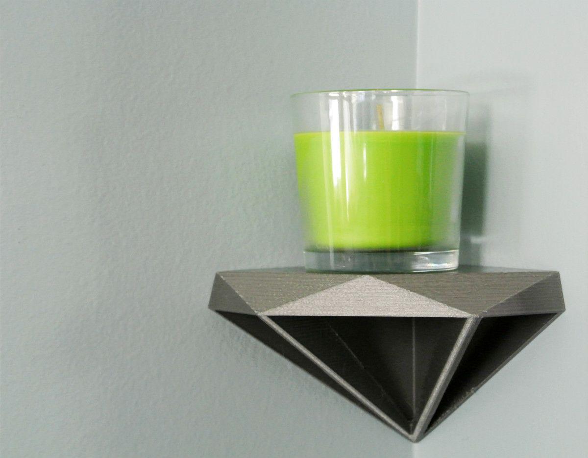 Diamond Corner Shelf Home Decor By 3d Print Pinterest