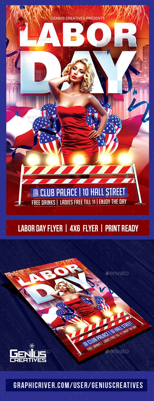 Labor Day Flyer Template | Pinterest | Flyer template, Labour and ...