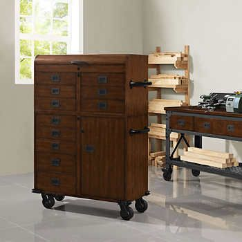 """Whalen 41"""" Rolling Wood Toolchest She Shed"""
