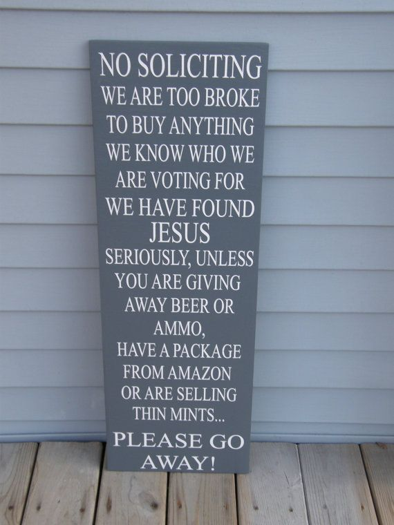 No Soliciting Sign - No Solicit Sign - Funny Front Porch Sign - Outdoor Sign - Outdoor Decor - Porch Sign - Rustic Sign #nosolicitingsignfunny Handmade No Soliciting Sign, No Soliciting, Please Go Away, Wooden Porch Sign, We Found Jesus, Funny Front Porch Sign #nosolicitingsignfunny No Soliciting Sign - No Solicit Sign - Funny Front Porch Sign - Outdoor Sign - Outdoor Decor - Porch Sign - Rustic Sign #nosolicitingsignfunny Handmade No Soliciting Sign, No Soliciting, Please Go Away, Wooden Porch