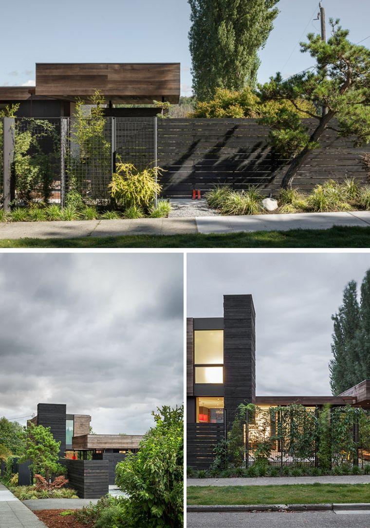 Une Cour Intérieure Du0027une Maison à Seattle : Image Prise De Loin