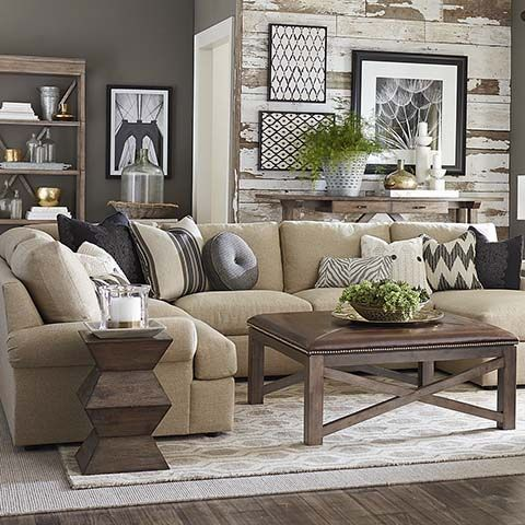 Sutton U-Shaped Sectional Compass, Shapes and Sectional couches - Brown Couch Living Room