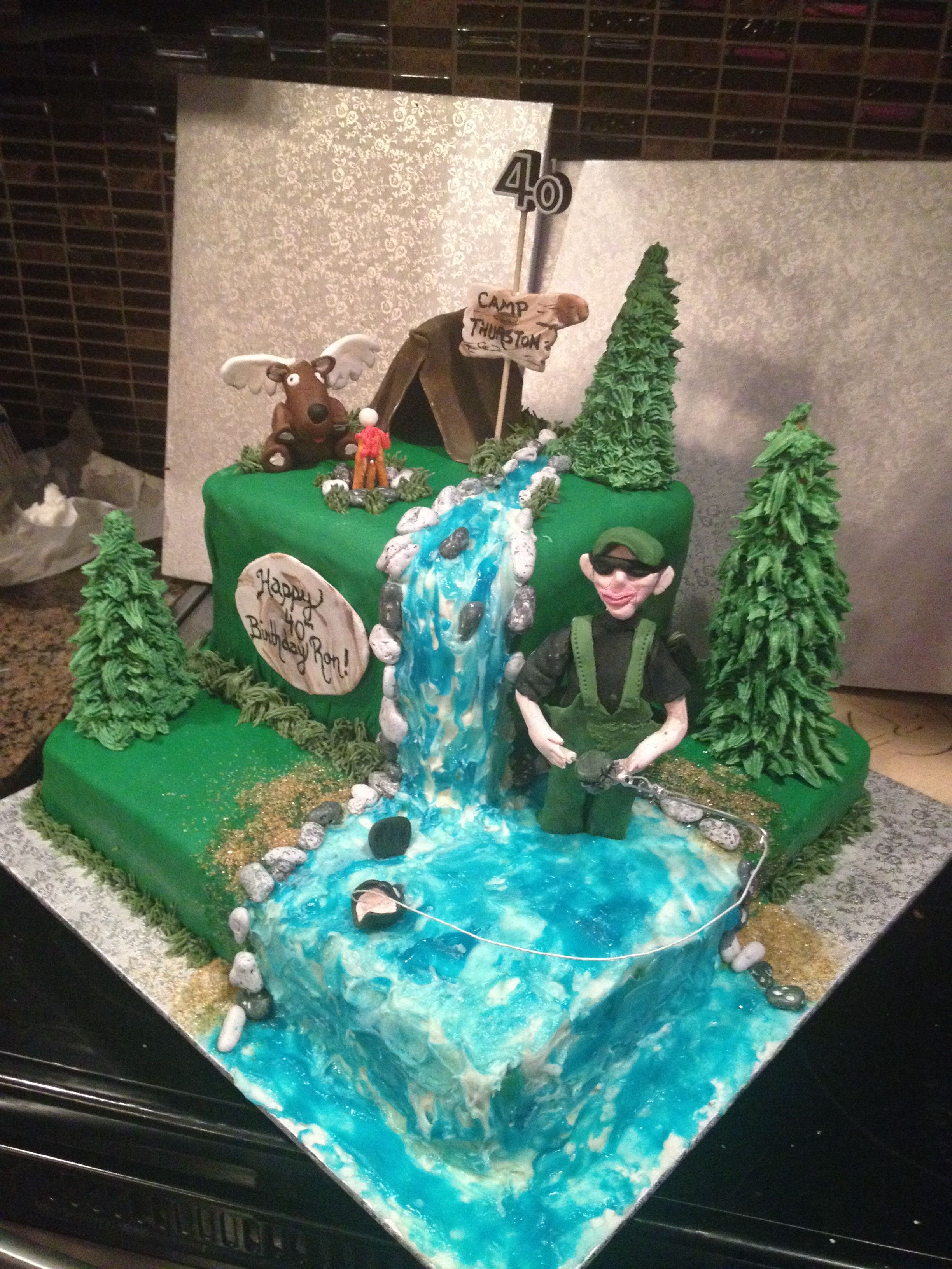 Here Is My Camping Hunting Fishing Theme Cake I Am