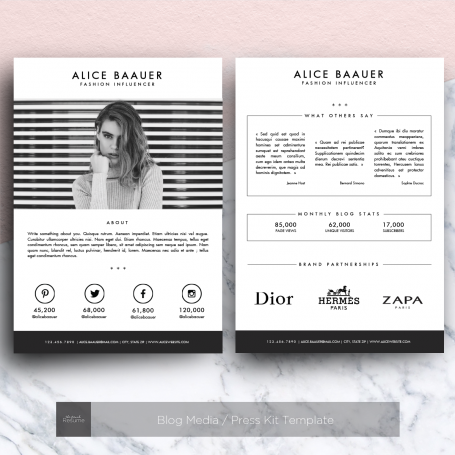 Blog #Media / Press Kit #Template   Http://luvly.co