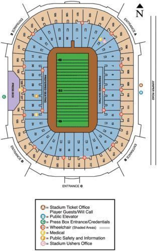 Tickets 2 Notre Dame vs Temple Tickets North Lower Level End