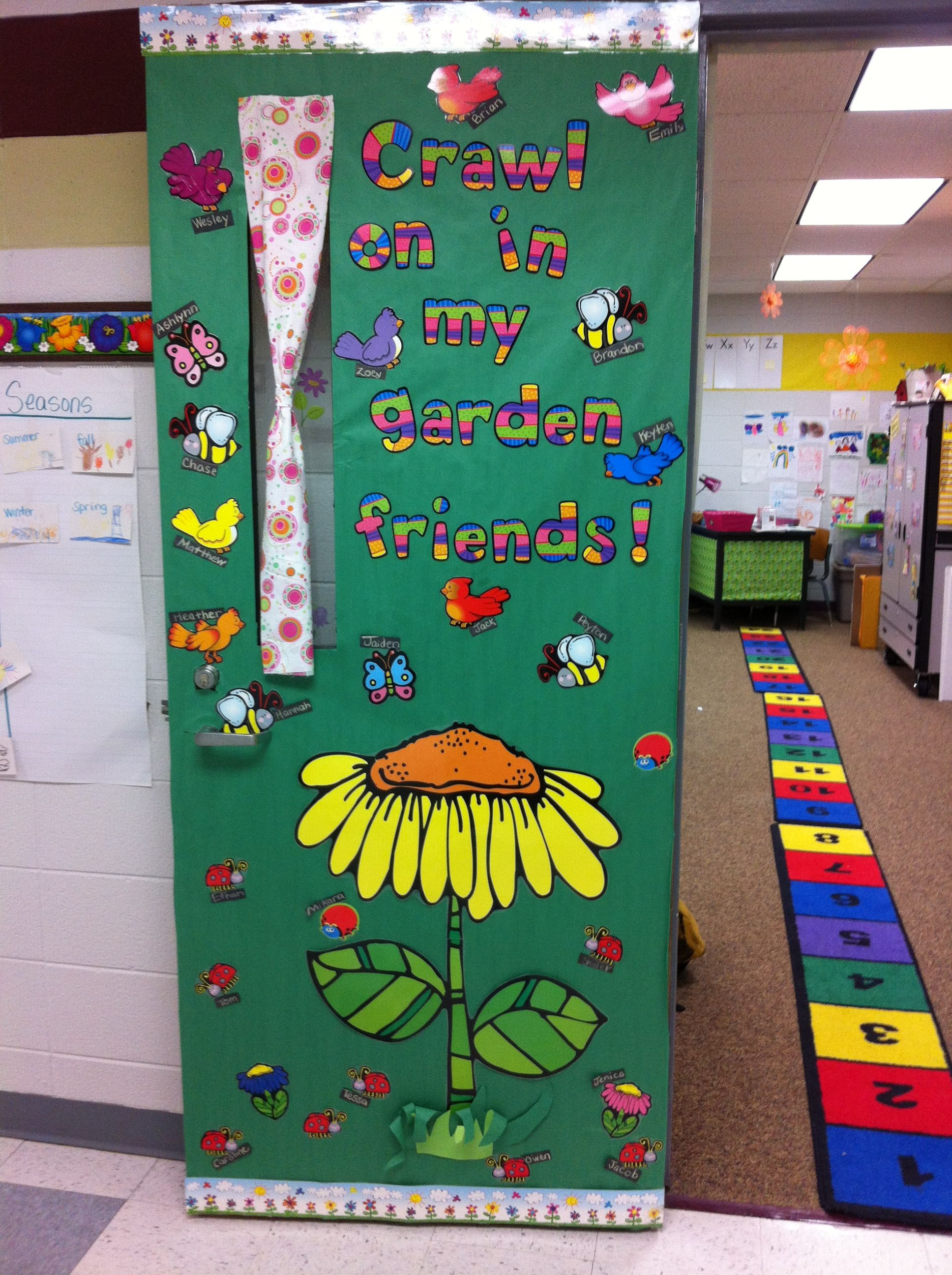 Garden Theme Classroom Door Perfect For Spring She Used