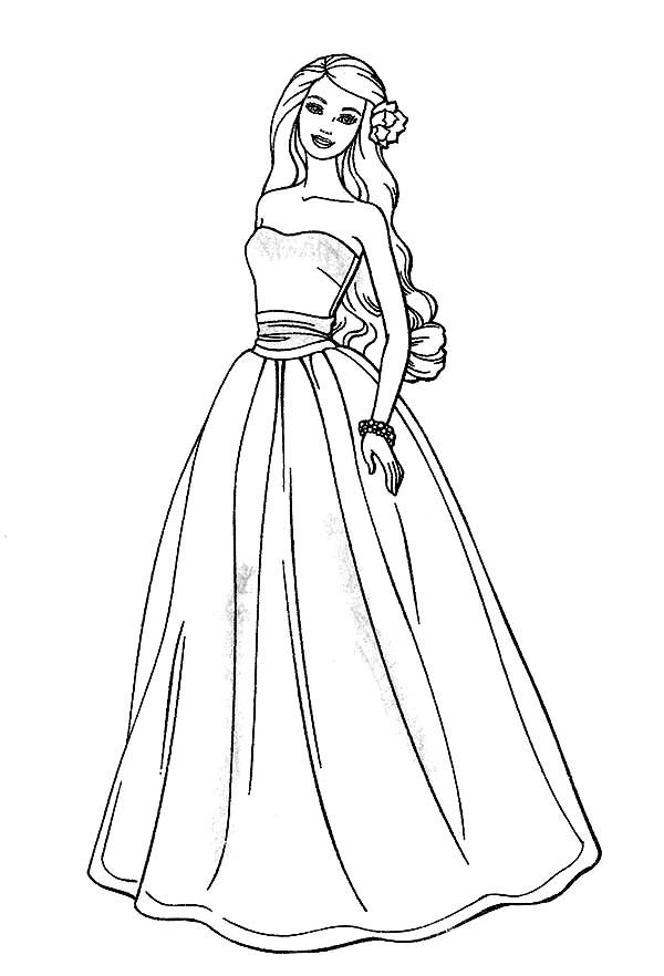 Awesome Barbie Doll Coloring Page Barbie Coloring Pages Barbie