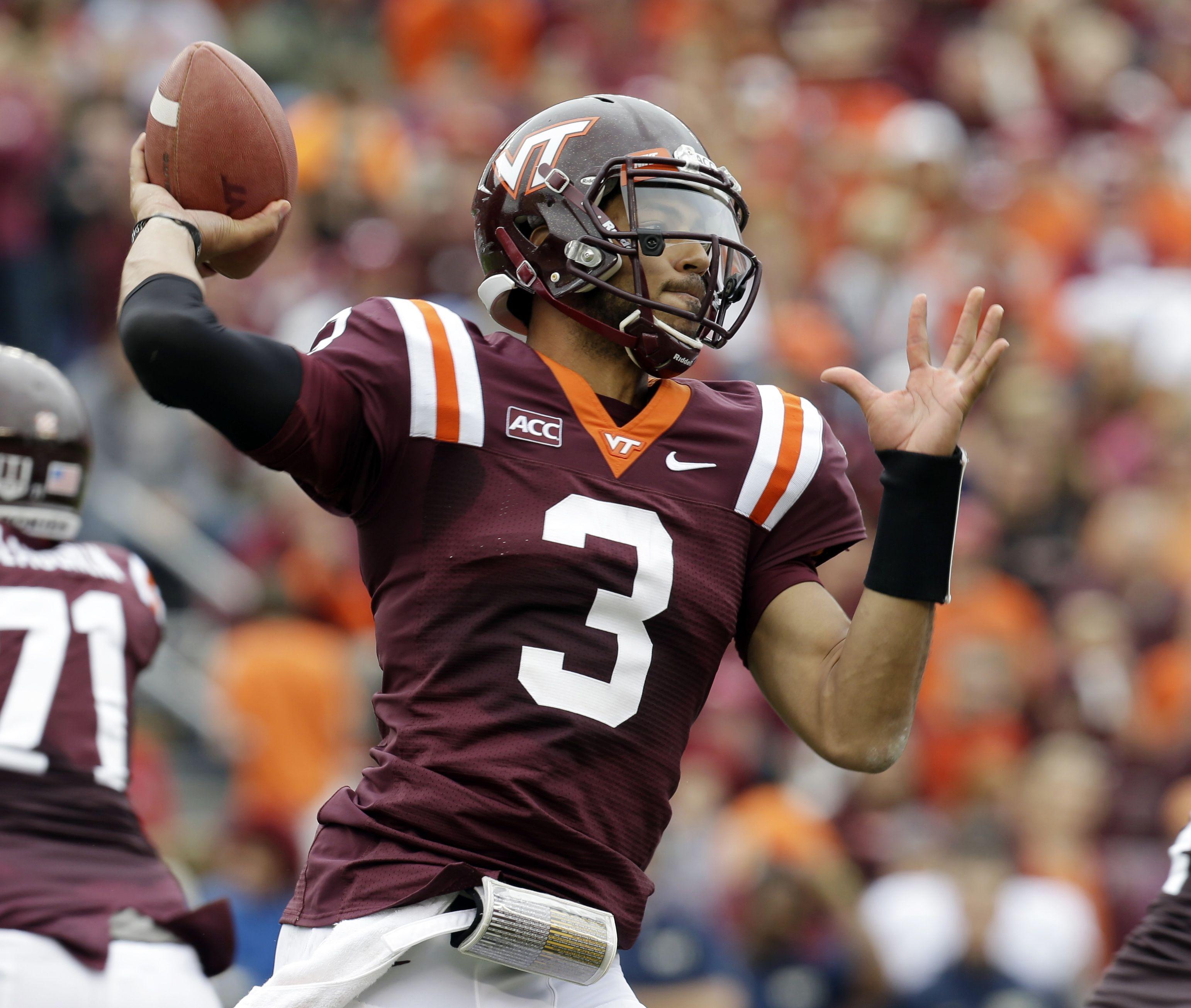Logan Thomas QB...Virginia Tech Football helmets, Football