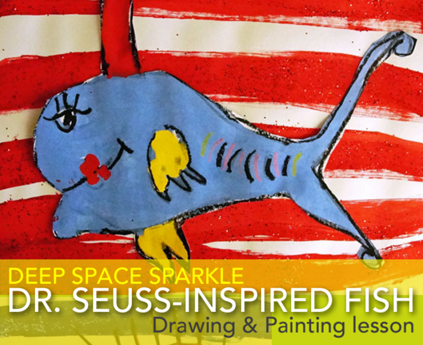 Dr Seuss Day One Fish Two Fish Art Project