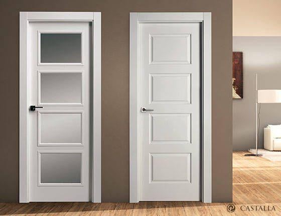 Pin de puertas castalla en serie lacada interior doors for Puertas correderas blancas interior