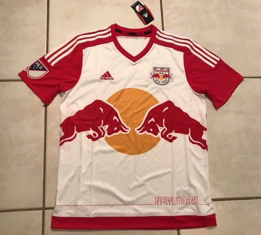 NWT ADIDAS New York Red Bulls MLS Home Jersey Men's Large