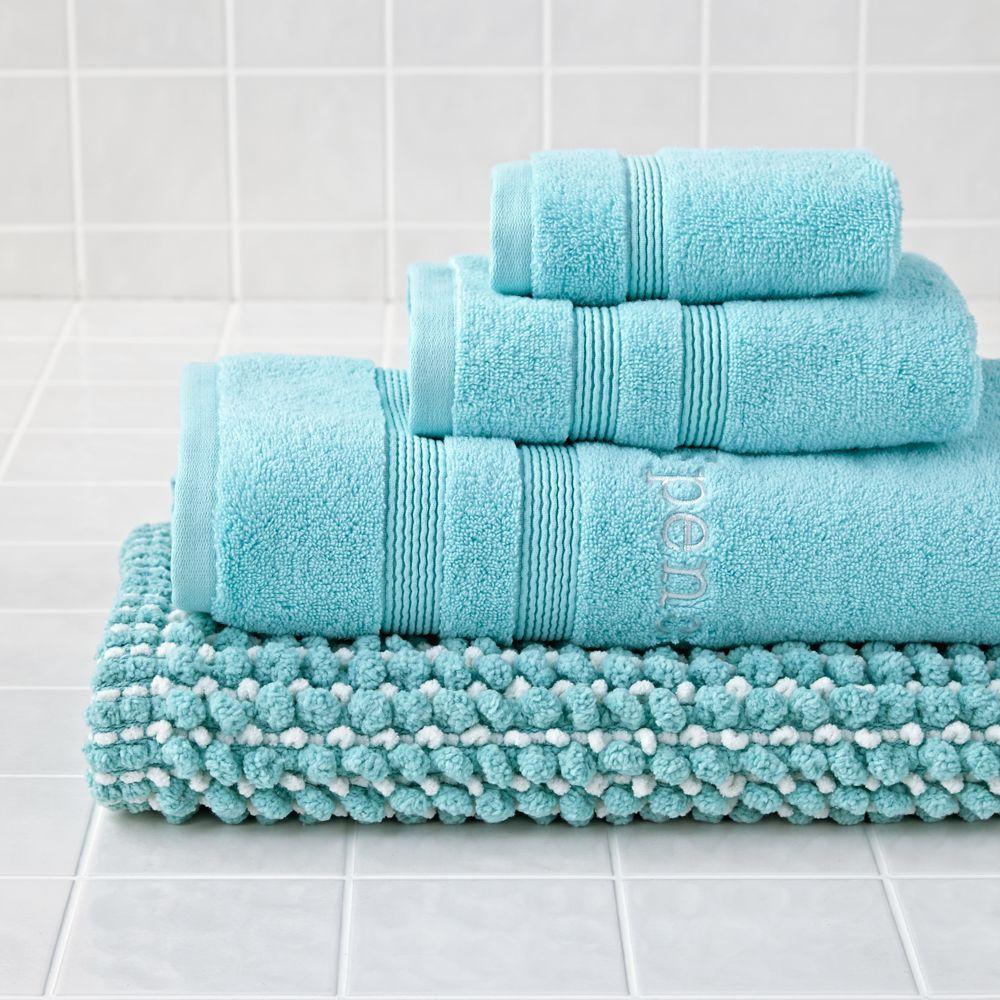 Personalized Fresh Start Bath Towel (Aqua) Aqua bath mat