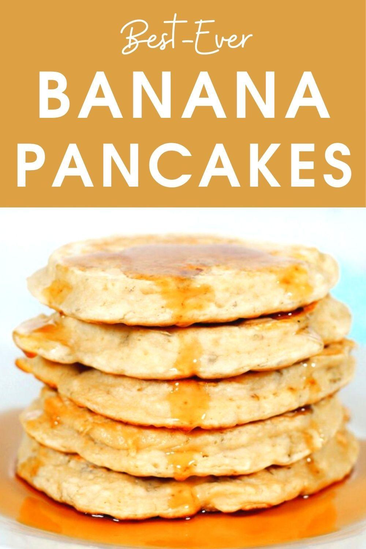 Best Ever Healthy Banana Pancakes Recipe In 2020 Vegan Dessert Recipes Yummy Pancake Recipe Banana Pancakes Recipe Healthy