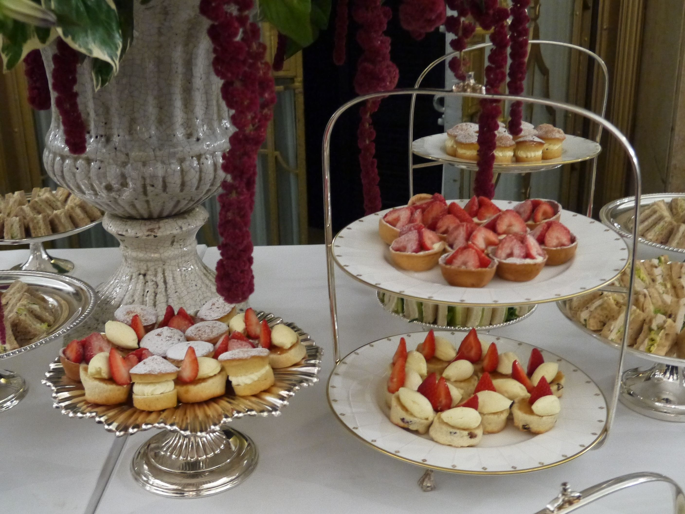 Afternoon Tea For Breakfast At Claridges For @Mulberry Ss14 London