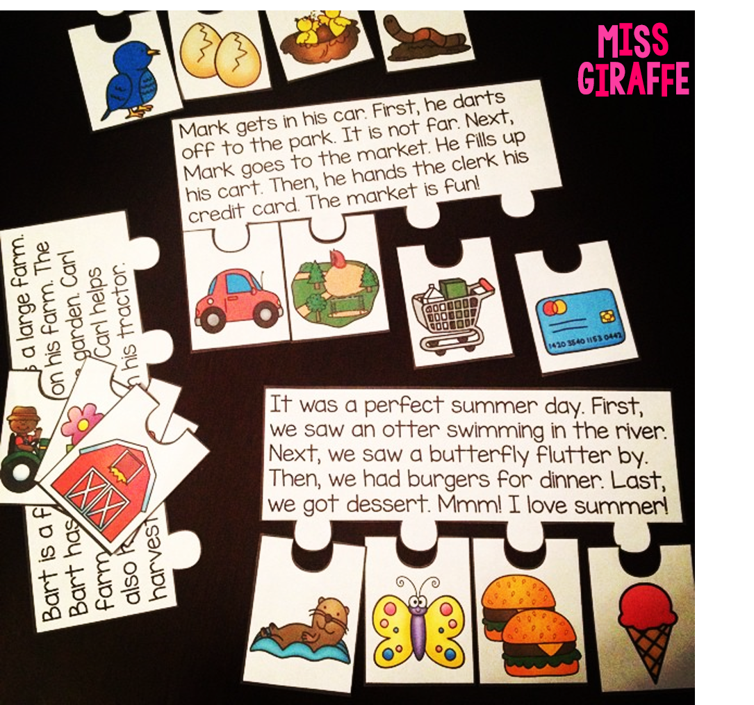 Bossy R Fluency And Sequencing Puzzles