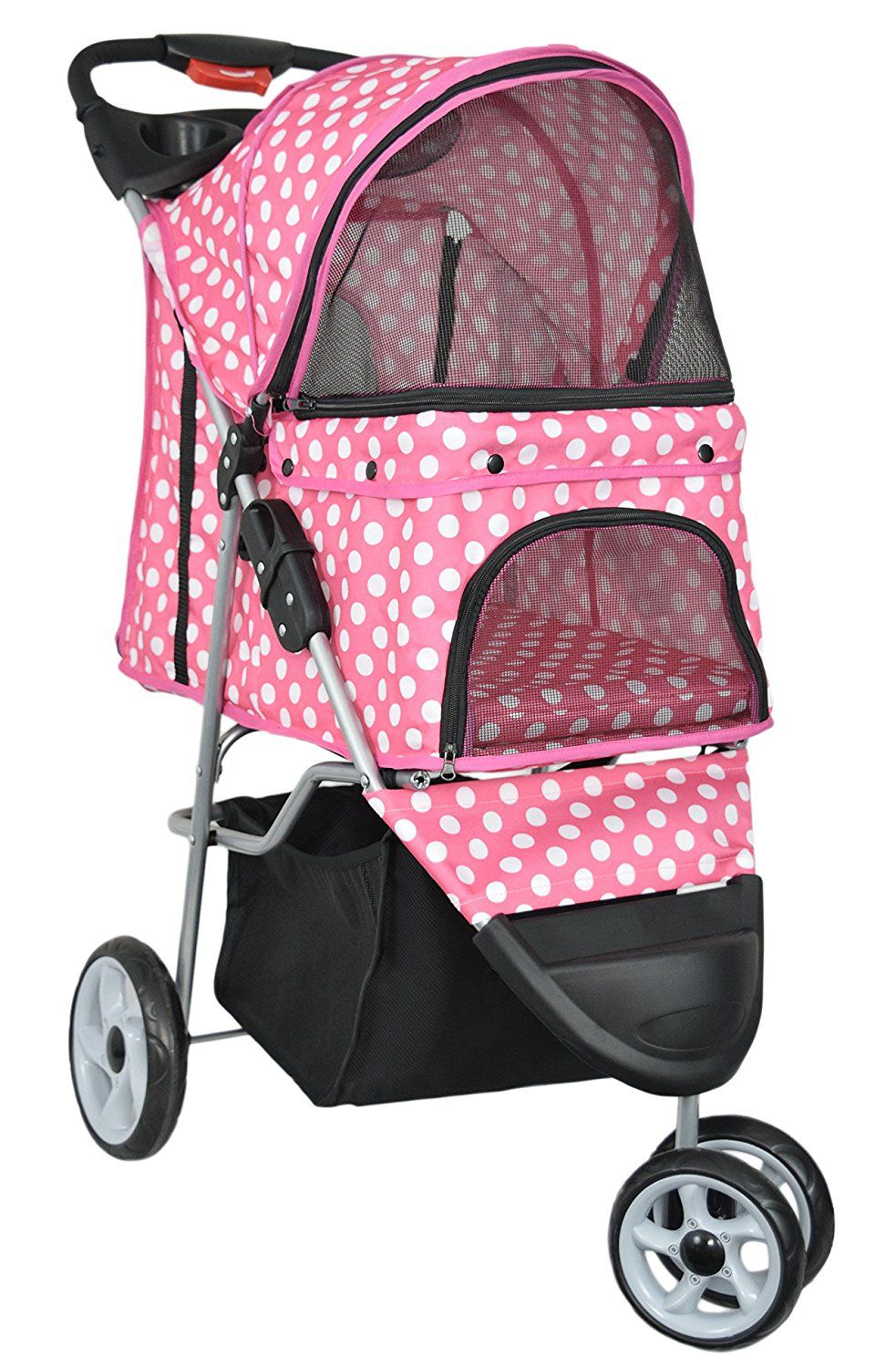 VIVO Three Wheel Pet Stroller, for Cat, Dog and More