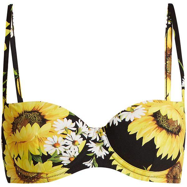 d95518b671b Dolce & Gabbana Sunflower-print balconette bikini top (1.195 BRL ...