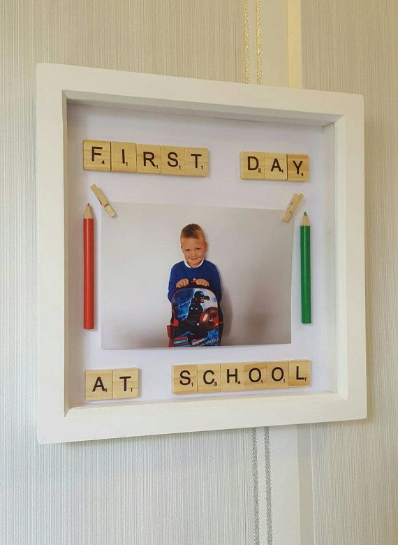 Handmade- 1st day at school picture frame | Pinterest | School ...