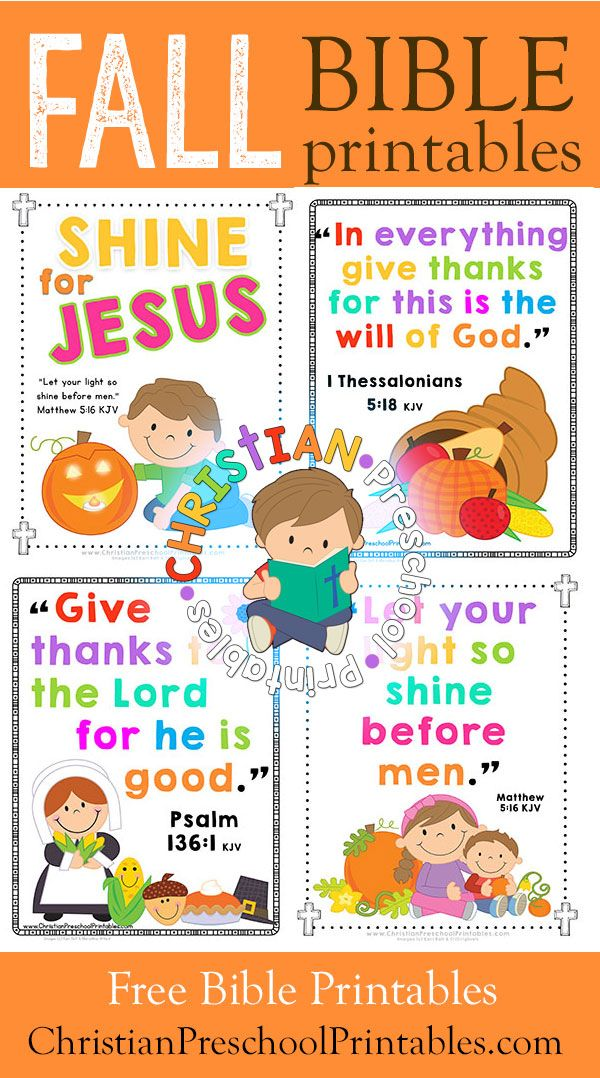 Free Thanksgiving Bible Printables For Kids Harvest Crafts Verse Cards Coloring Pages