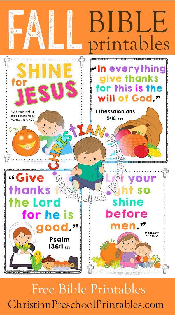free thanksgiving bible printables for kids. harvest crafts, bible
