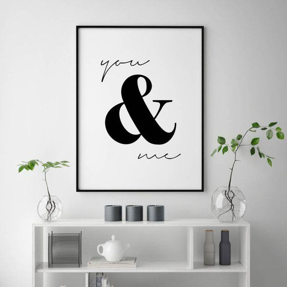 Photo of You and Me Print, Love Quotes, Love Couple Wall Art, Love Quote Prints, Couple Wall Print, Wedding Gifts for Couple, You and Me Printable