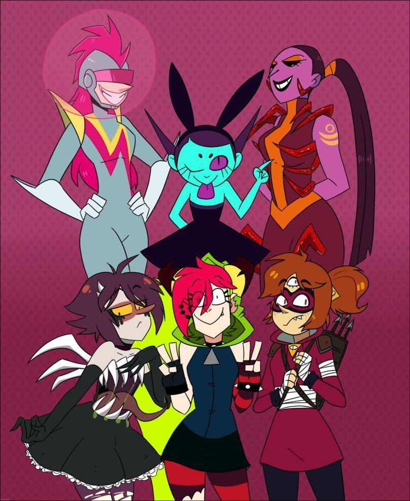 Villain girls team by kurukoo greatest villains cartoon network crossover bad girls