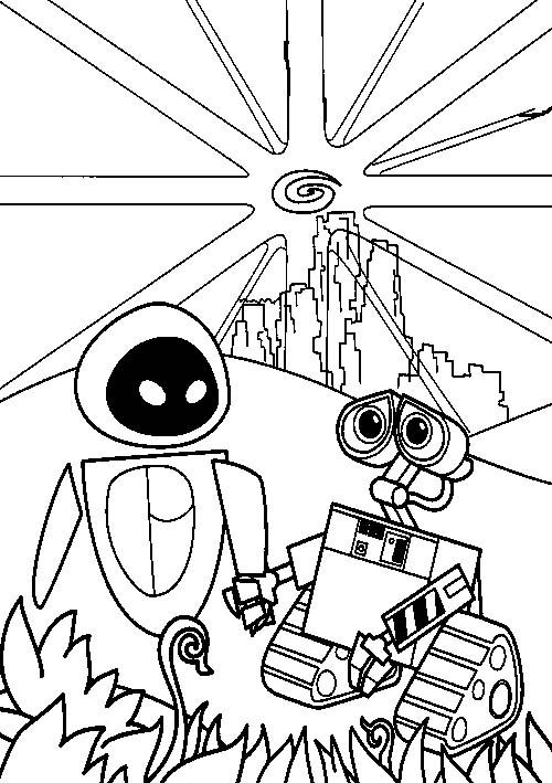 Wall E Hand In Coloring Pages For Kids Printable Robots