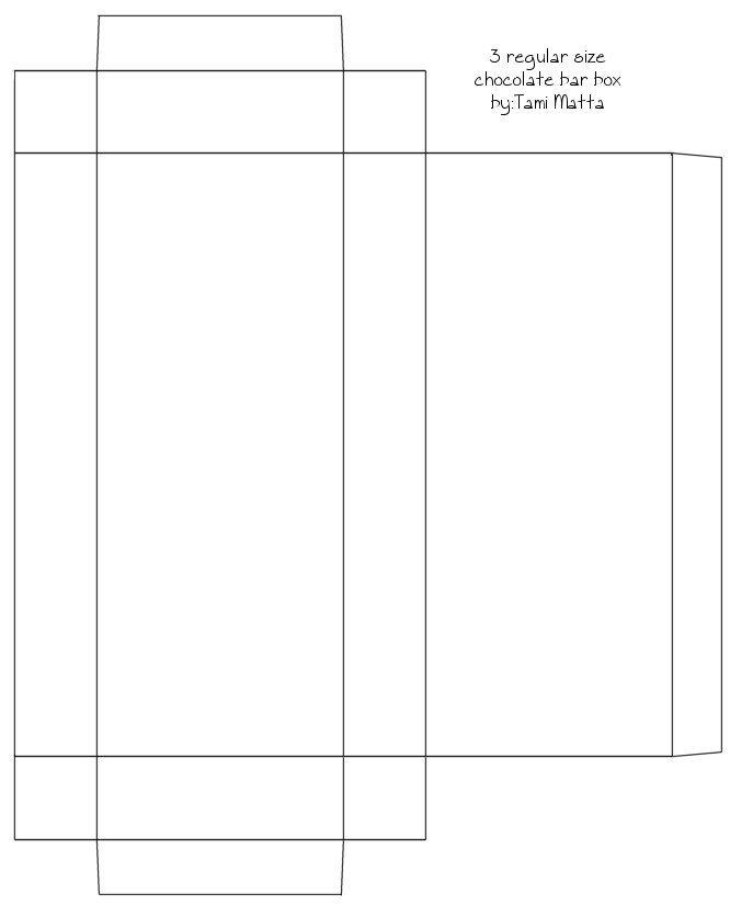 choc bar box Templates Pinterest Bar, Box and Template
