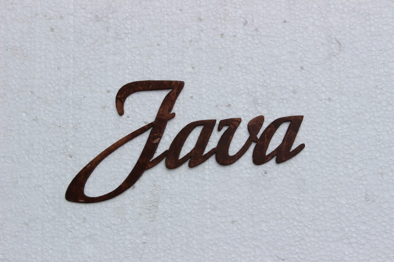 Java Coffe Word Sign Small - Kitchen Home Decor Metal Wall Art ...