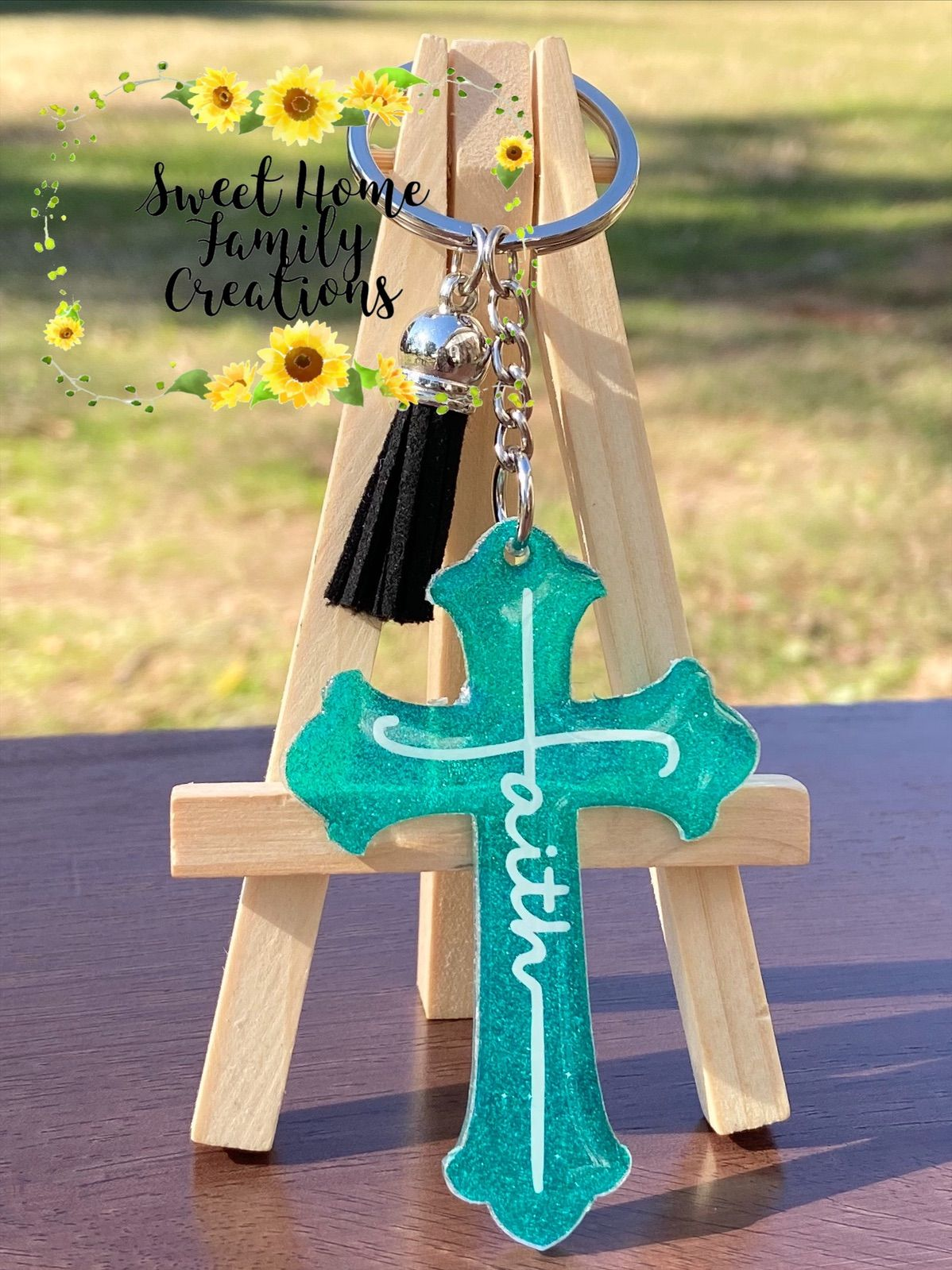 Cross acrylic keychaincustom cross keychainpersonalized