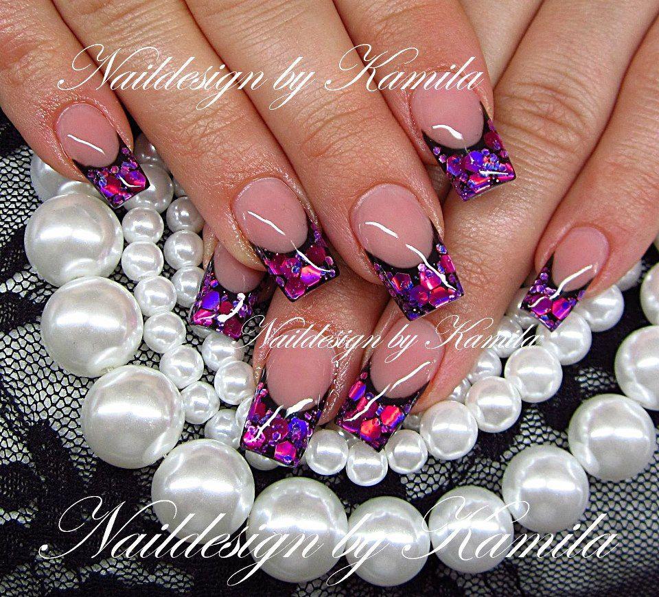 purple tips t match ur metallic burberry trench...x