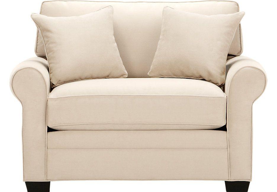 cindy crawford home bellingham vanilla sleeper chair from furniture - Cindy Crawford Furniture