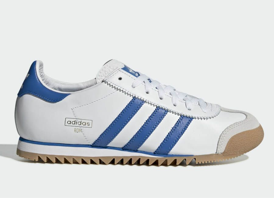 Adidas Rom Shoes Ftwr White Bright Royal Grey One Latest Shoes Adidas Shoes