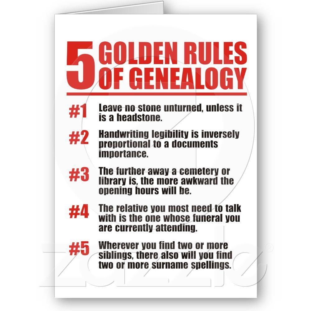 Genealogy 5 Golden Rules