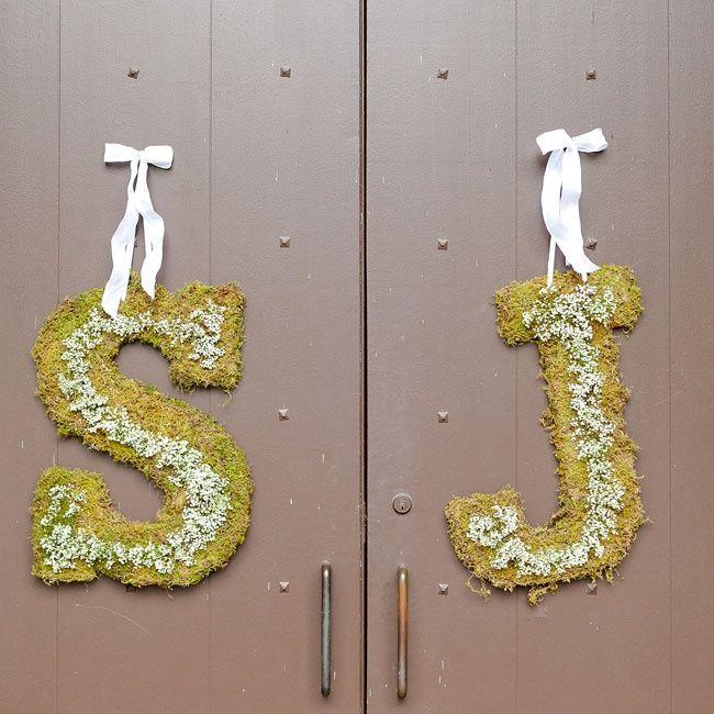 Church door decorations | John Mathis Photography | www.theknot.com