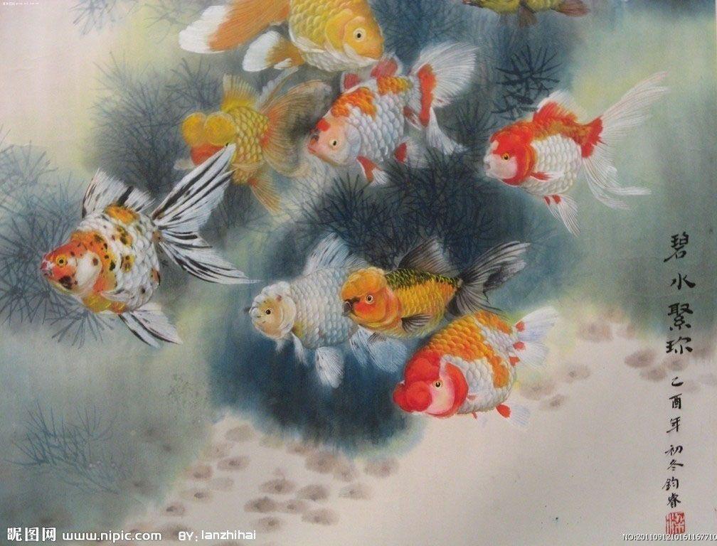 Peinture Bassin Poisson. Nishikigoi Carp. Castorama Jardin Chaise