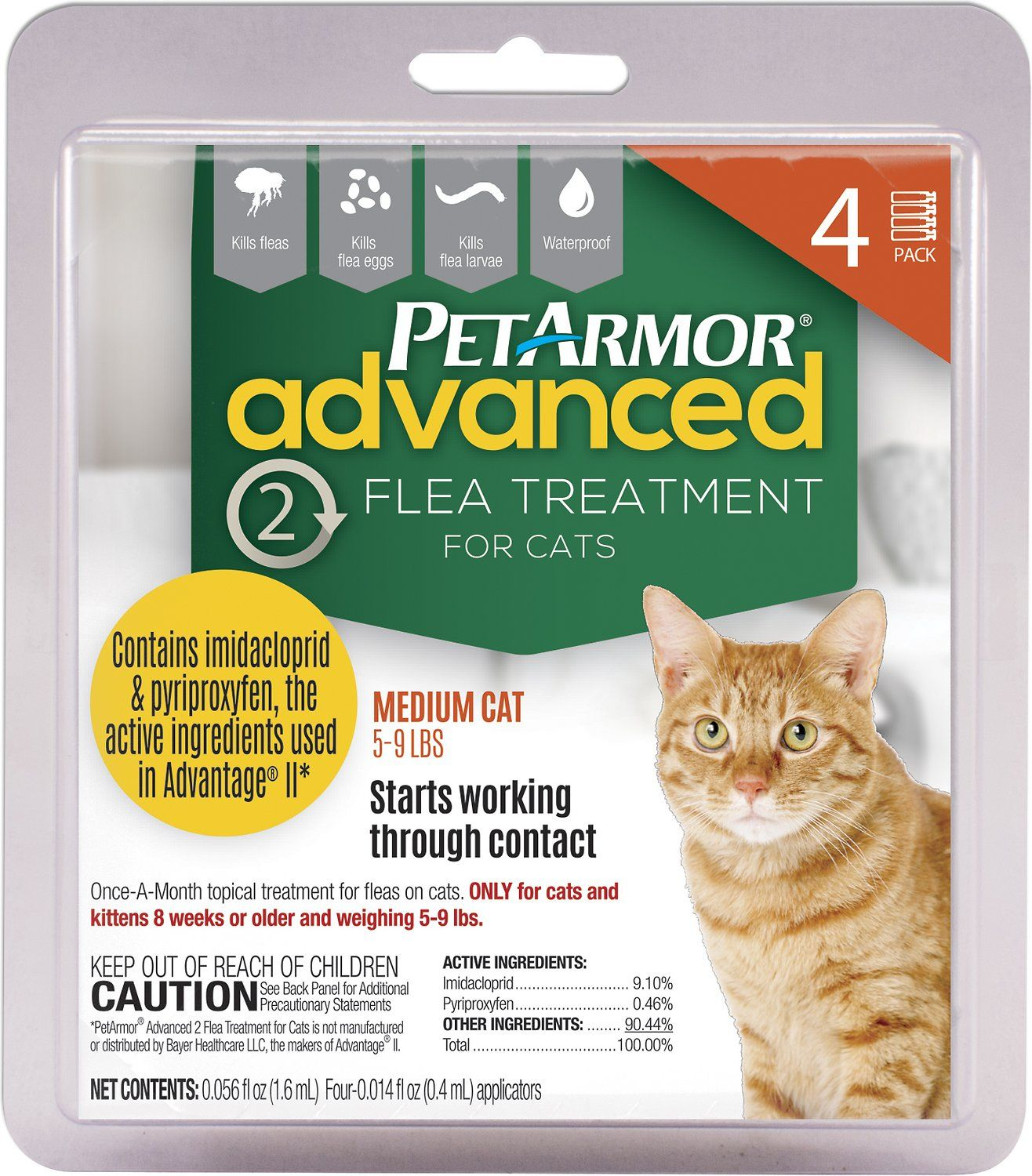 PetArmor Advanced 2 Flea Treatment for Medium Cats 5 9 lbs 4